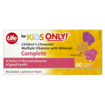 Life Brand for Kids Only Children's Chewable Multiple Vitamins with Minerals Complete Chewable Tablets