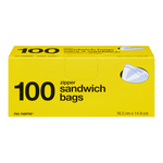 no Name Zipper Sandwich Bags 100 Bags