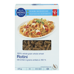 PC Blue Menu 100% Whole Grain Whole Wheat Rotini Pasta 375g