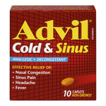 Advil Cold & Sinus Analgesic Decongestant 10 Caplets