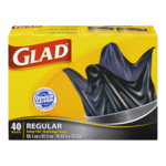 Glad Easy Tie Garbage Bags Regular 40 Bags