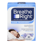 Breathe Right Bandelettes Nasal Grandes Transparentes 30 Bandelettes