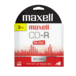 Maxell Cd-R 80 Minutes Music 3 Disques