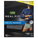 Depend Real Fit for Men Maximum Absorption Caleçons L/Xl 10 Caleçons