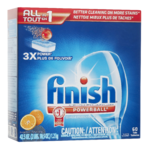 Finish Powerball Détergent Pour Lave-Vaiselle Orange 60 Tablettes