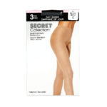 Secret Collection Day Sheer Pantyhose C Reinforced Panty Nearly Black 2 Pairs