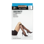Secret Collection Silky Knee Highs one Size Natural 2 Pairs