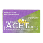Acet Acetaminophen Suppositories 160Mg x 12 Suppositories