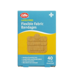 Life Brand Flexible Fabric Bandages 40 Bandages