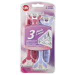 Life Brand 3 Blade Disposable Razors 4 Razors
