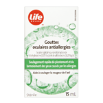 Life Brand Gouttes Oculaires Contre Les Allergies 15mL