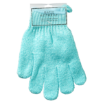 Bath Retreat Deluxe Exfoliating Gloves Aqua