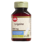 Life Brand L-Lysine 500 mg Tablets
