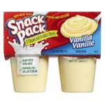 Hunt's Snack Pack Vanilla 4 Cups
