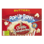 Orville Redenbacher Pop up Bowl Gourmet Popping Corn Buttery 3 x 82g