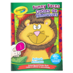 Crayola Funny Faces Animals Colouring and Sticker Book