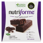 Adrien Gagnon Nutriforme Meal Replacement Chocolate Coffee Crunch Blast 5 Meal-Bars x 65 g