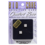 Bio Care Comfort Zone Earrings for Sensitive Ears Cubic Zirconia 6mm
