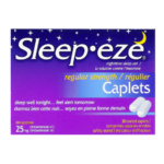 Sleep-Eze Caplets Nighttime Sleep Aid Regular Strength Diphenhydramine Hcl 25mg x 20 Caplets