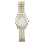 Precision Ladies Watch With Two Tone Expansion Band