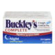 Buckley's Complete Cough, Cold and Flu Extra Strength Nighttime Symptom Relief 24 Caplets