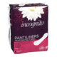 Incognito Panty Liners Long Odor Control 40 Panty Liners