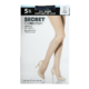 Secret Collection Day Sheer Knee Highs one Size Black 5 Pairs