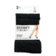 Secret Collection Support Knee Length one Size Black 2 Pairs