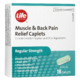 Life Brand Muscle & Back Pain Relief Caplets Regular Strength 18 Caplets
