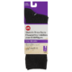 Life Brand Dress Crew Socks for Ladies with Diabetes Size 6-10 Black 1 Pair