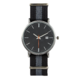 Joe Fresh Men's Black and Grey Nylon Strap Watch