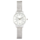 Joe Fresh Ladies Rounded CS White Silver Mesh Bracelet