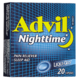 Advil Nighttime Pain Reliever Sleep Aid Liqui-Gels 20 Capsules