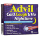 Advil Cold, Cough & Flu Nighttime Analgesic + Antihistamine + Cough Suppressant Liqui-Gels 18 Capsules