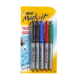 BIC Mark it Permanent Marker Fine Point Black, Blue, Red, Green 5 Markers