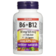 Webber Naturals Vitamin B6 + B12 with Folic Acid 120 Capsules