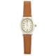 Precision Ladies Two Tone Watch  With Tan Strap