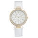Precision Ladies Watch With White Strap/3Sub Dial