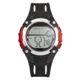 Precision Mens Black And Red Rubber Strap Digital Watch