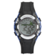 Precision Men'S Black And Blue Digital Rubber Strap Watch