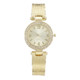 Precision Ladies Gold Watch With Mesh Bangle