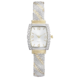 Precision Ladies Two Tone Textured Bangle Watch