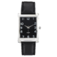 Precision Mens Silver Watch With Black Strap