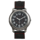 Precision Mens Gunmetal Watch  With Black Nylon Strap